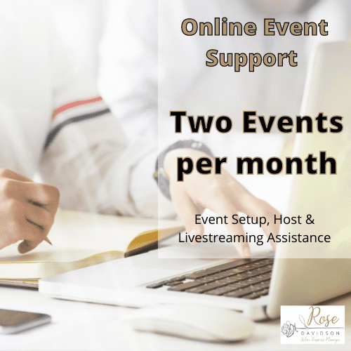 Online Event Support, Setup, Host & Livestreaming Assistance, Product, Business, Entrepreneur, Event, Events, Online Programs, Podcast, PowerPoint,PowerPoint Presentation, PowerPoint Slides, Presentation, Presentations, Program, Programs, Promotional Videos, Resources, Rose Davidson, Small Business, Small Business Owner, Social Media, Speaker, Speakers, Support, Video, Video Editing, Vodcast, Workshop, Workshops